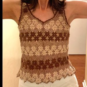 Handmade Finely Crocheted Tank Top